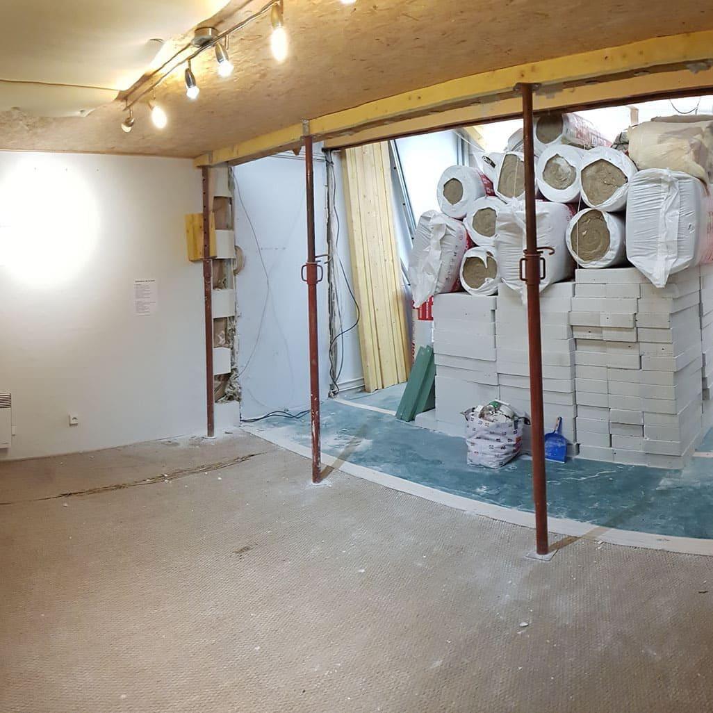 Rénovation salle de répétition: Etape 1